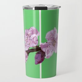 Cherry Blossoms on Greens Travel Mug