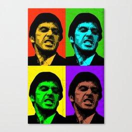 Tony Montana Colorful Scarface Art Canvas Print
