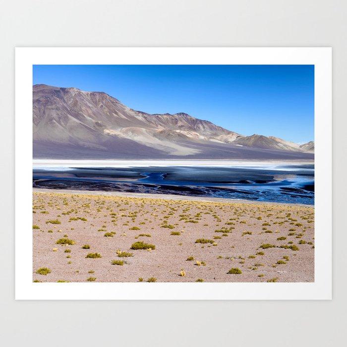 Altiplano Salt Lake Art Print