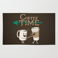 coffee Area & Throw Rugs featuring Coffee Time! by powerpig