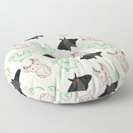Cryptid Mothman Jackalope Nessie Lochness Pattern Floor Pillow