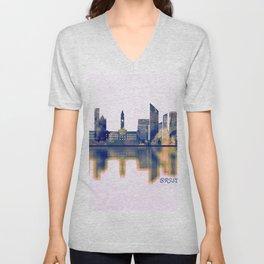 Brisbane Skyline Unisex V-Neck