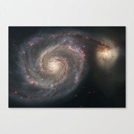 "The ""Whirlpool"" Galaxy Society6 Planet Print Canvas Print"