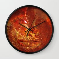 beauty and the beast Wall Clocks featuring beauty and the Beast by  Agostino Lo Coco