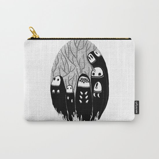 Crowded Wood Carry-All Pouch