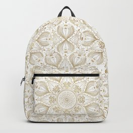 Boho Chic gold mandala design Backpack