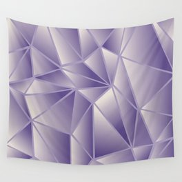 Violet Gold Stained Glass Wall Tapestry