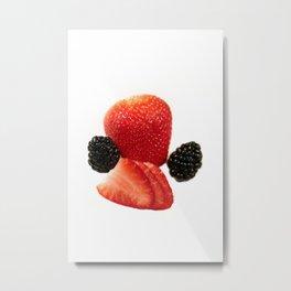 Strawberry Blackberry Metal Print