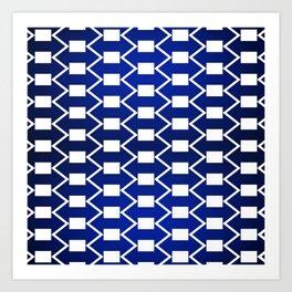 Gradient Blue Arrows Art Print