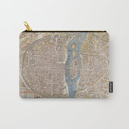 Color Map of Paris Circa 1550 Carry-All Pouch