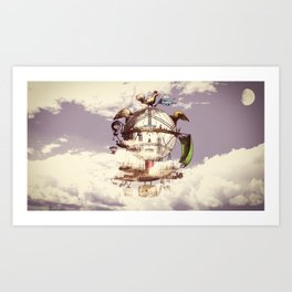 Drifting Through the Clouds Art Print