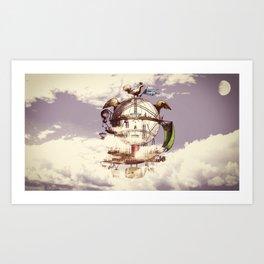 Drifting Through the Clouds Art Print