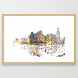 vintage Bruges Framed Art Print