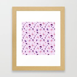 Insects in Pink Framed Art Print