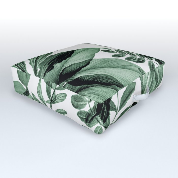Tropical Rainforest - greenery Outdoor Floor Cushion