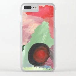 Birth - beautiful velocity, a green and red abstract Clear iPhone Case