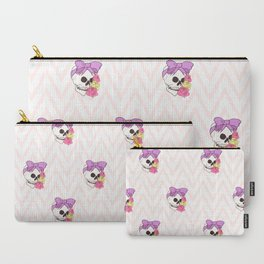 Floral Pastel Skull Carry-All Pouch