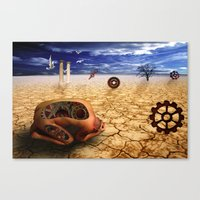 surrealism Canvas Prints featuring surrealism  by mark ashkenazi