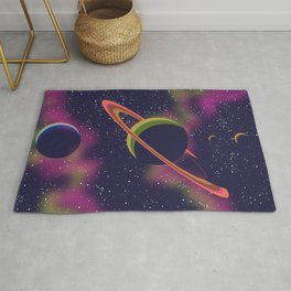 Space And Planets. Rug