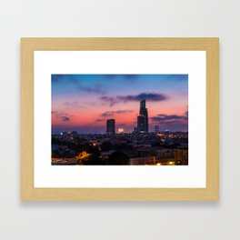 A beautiful evening in Karachi Framed Art Print