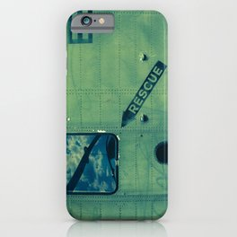 Green Rescue Decal Helicopter Instruction iPhone Case