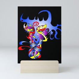 Shakti  Black Mini Art Print