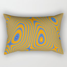 TANG bright orange blue concentric circles pattern Rectangular Pillow