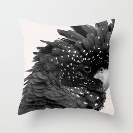 Black Billie Throw Pillow