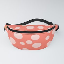 Living Coral Polka Dot Party Fanny Pack