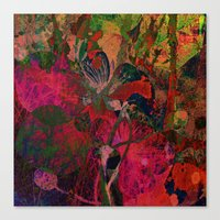 vintage floral Canvas Prints featuring vintage floral by clemm