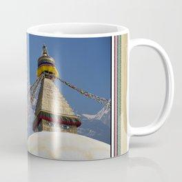 BOUDHANATH AND MACHAPUCHARE NEPAL COMPOSITE Coffee Mug
