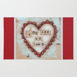 So Loved - by Diane Duda Rug