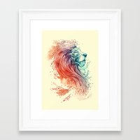 lion Framed Art Prints featuring Sea Lion by Steven Toang