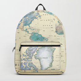Antique Inspired World Map [shaded relief] Backpack