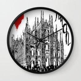 I love Milan Wall Clock