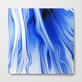 Streaming Blues Metal Print