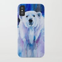 polar bear iPhone & iPod Cases featuring Polar bear  by Slaveika Aladjova
