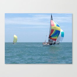 Sail boats, Spinakers, racing, NC coast, Sea scape Canvas Print