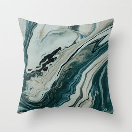 Tranquil Arctic Painting Marble Throw Pillow