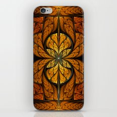Glowing Feathers Fractal Art iPhone & iPod Skin