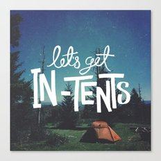 Let's Get In-Tents Canvas Print