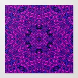 Pink and Purple Kaleidoscope Canvas Print