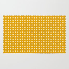 Yellow pattern with white dots Rug