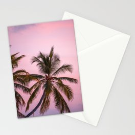 Pink Palm Trees Stationery Cards