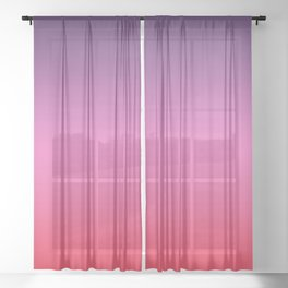 Carriacou - Classic Colorful Abstract Minimal Modern Summer Style Color Gradient Sheer Curtain