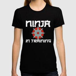 Ninja in Training Shiruken Ninjutsu Martial Arts T-shirt