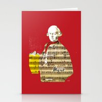 mozart Stationery Cards featuring Wolfgang Amadeus Mozart by Marko Köppe