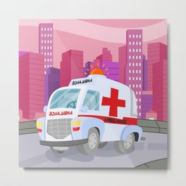 AMBULANCE (GROUND VEHICLES) Metal Print