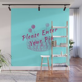 Please Enter Your Pin Funny Pun Sew Sewing Wall Mural