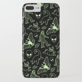 Cryptid Pattern (Green Lines) iphone 11 case
